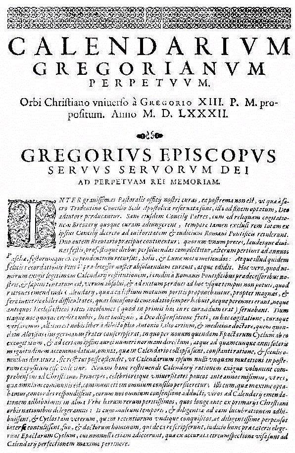 Gregorian Kalendar